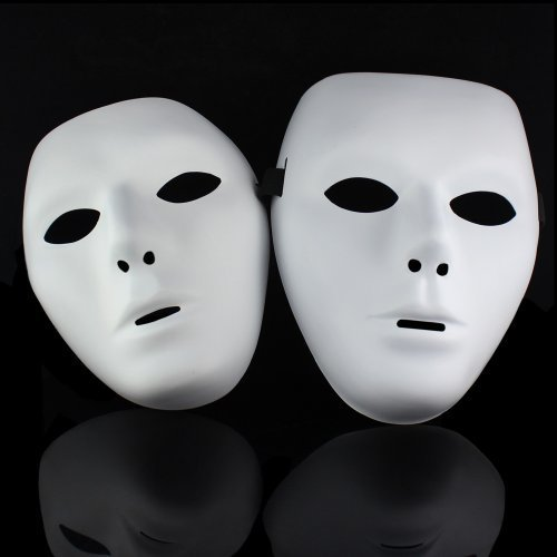 One pair Jabbawockeez Hiphop Mask Halloween Cosplay Costume Party mask White