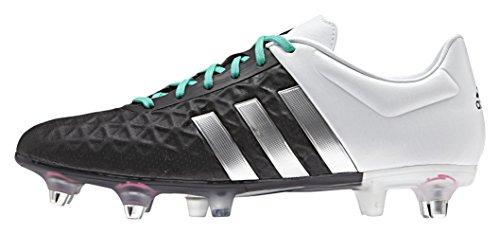 adidas Ace 15.2 Sg, Botas de Fútbol para Hombre Negro / Plateado / Blanco (Negbas / Plamat / Ftwbla)