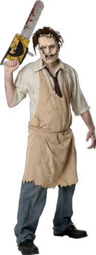 Texas Chainsaw Massacre Leatherface Costume, White, Standard]()