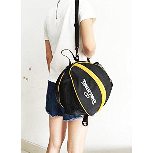 George Jimmy Fashion Cool Basketball Bag Training Bag Single-shoulder Soccer Bag-Black by George Jimmy (Image #1)