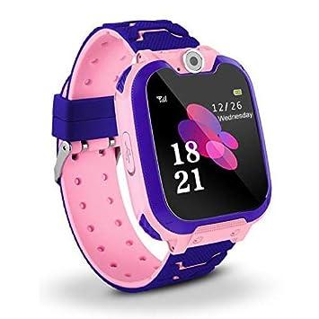 SQUAREDO Reloj Inteligente para Niños Teléfono para Niños Reloj con Rastreador GPS con Alarma Anti-perdida Ranura para Tarjeta Sim Pantalla Táctil ...
