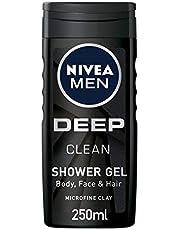 Nivea Deep Clean Shower Gel for Men, 250 ml