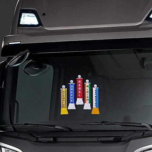 Truck Duck Lkw Auto Minischal Brummi Deutschland Trucker Mini Schal Wimpel Flagge Fahne Saugnapf Spiegel Deko Auto