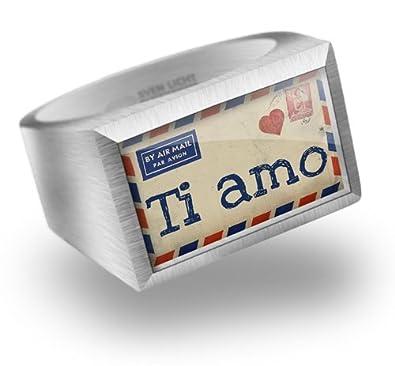Siegelring Ich Liebe Dich In Italienisch Brief Aus Italien Rg 58