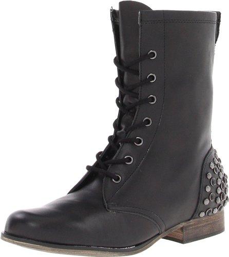 Betsey Johnson Women's Kinderr Ankle Boot,Black Leather,7...