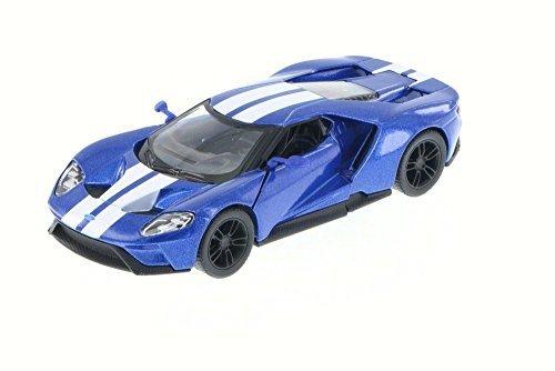 Gt Diecast Model - 2017 Ford GT, Blue - Kinsmart 5391DF - 1/38 Scale Diecast Model Toy Car