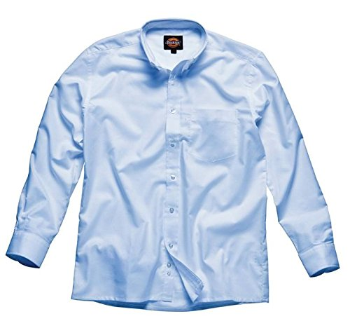 Dickies Long Sleeve Oxford Shirt (Dickies Long Sleeve Oxford Shirt - Blue - 17.0)