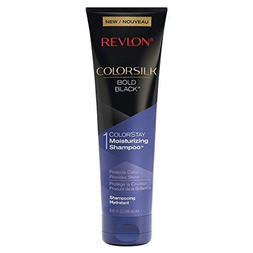 Black Hair Color Enhancing Shampoo - Revlon ColorSilk Care Shampoo, Black, 8.45 Fluid Ounce
