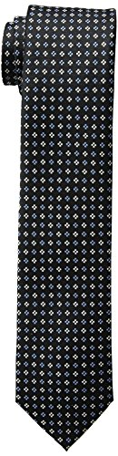 Tommy Hilfiger Men's Core Neat II Tie, Black, One ()