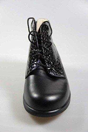 5 5 Stiefel schwarz Flachau Wollfutter Comfort Finn 7OX1q