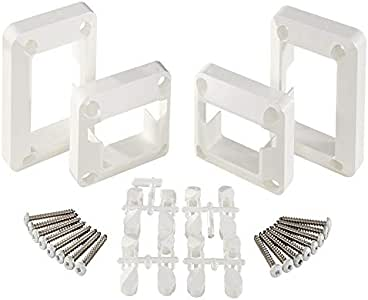 Amazon.com: Fiberon (5 Packs of 2 Pair) White Sentry Rail ...