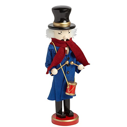 Caroler Drummer Musician Large Unique Decorative Wooden Christmas (Drummer Nutcracker)