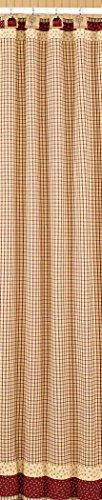 Park Designs Apple Jack Shower Curtain, 72 by 72