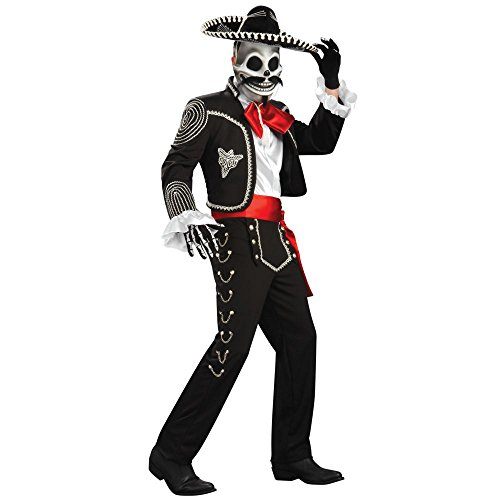 Men's El Senor Dia de los Muertos Grand Heritage Costume X-LARGE (Dia Del Los Muertos Costume)