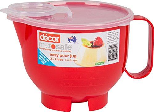 Décor 1003 04 2L Microsafe Microwave Jug, Clear