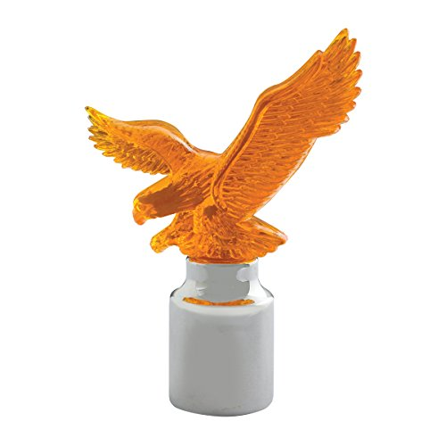 GG Grand General 94132 Amber Chrome Cap & Amber Plastic Eagle for 1 Inch Bumper Guides