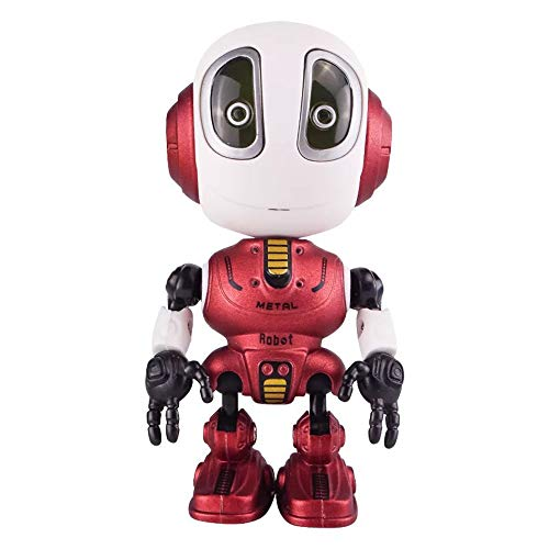 XFTOPSE Steam Smart Talking Robot Toy for Kids Interactive Voice Controlled Sensor,Mini Alloy Robot Robots Robot Travel Toys Multi-Function Sensing Touch for Kids Toy Gift