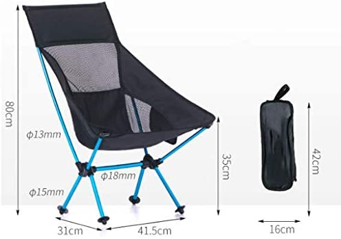 Pkfinrd Chair Outdoor Portable Fishing Chair Camping Chair Beach Folding Chair Ultralight back can carry a weight of 90kg