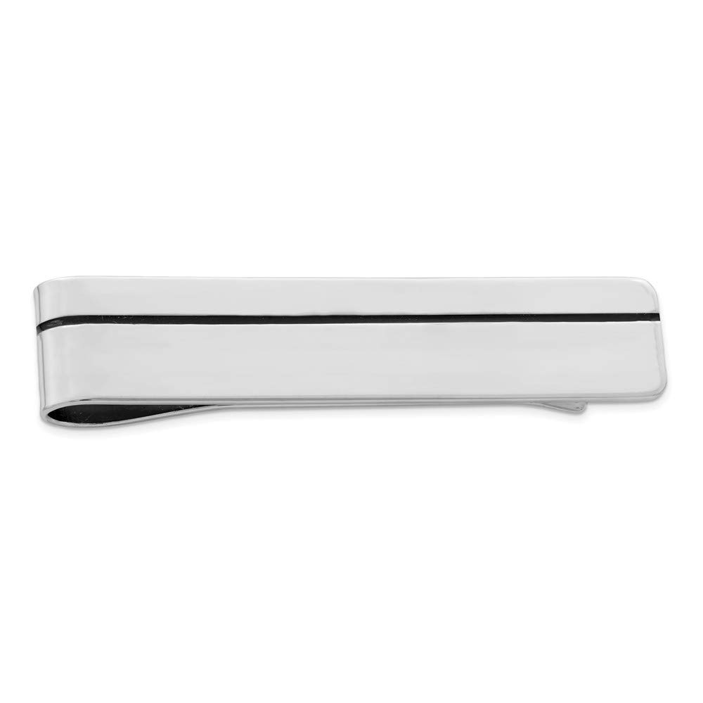 925 Sterling Silver Rhodium-plated Enameled Money Clip