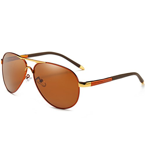 Automóvil LENTES polarizadas Brown de de gafas macho frío estilo gafas TIANLIANG04 sol de piloto sol azul gafas para UV400 hombres ESPEJO DE polarizadas qPgpU0