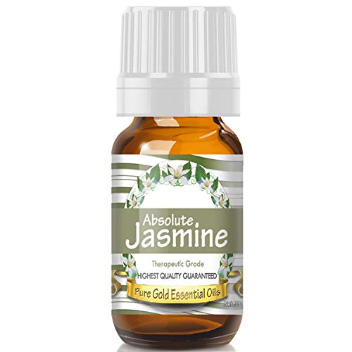 Jasmine Absolute Essential Oil (Premium Grade Essential Oil) 10ml - Best Therapeutic Grade - Perfect for Your Aromatherapy Diffuser, Relaxation, More!