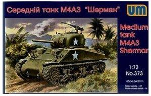 (Plastic model US M4A3 Sherman medium tank WWII 1/72 UM 373)
