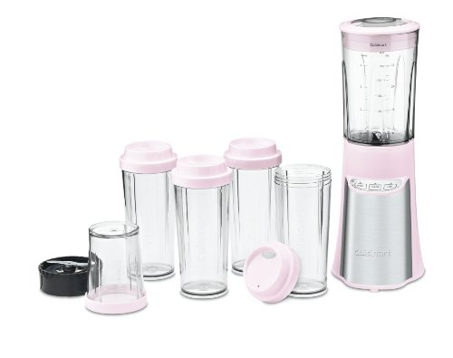 Cuisinart CPB-300PK SmartPower 15-Piece Compact Portable Blending/Chopping System, Pink For Sale