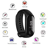 Shaarq M3 Intelligence Bluetooth Smart Watch/Smart Bracelet/Health Band/Activity Tracker/Bracelet/Fitness Band/M3 Band/with Heart Rate Sensor Compatible for All Androids and iOS Phone/Tablet