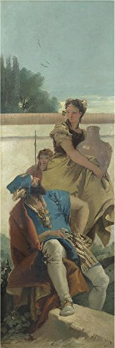 Perfect Effect Canvas ,the Replica Art DecorativeCanvas Prints Of Oil Painting 'Giovanni Battista Tiepolo,Seated Man Woman With Jar And Boy,about 1757', 20x61 Inch / 51x154 Cm Is Best For Wall Art Artwork And Home Decor And (Chaos Beast Men)