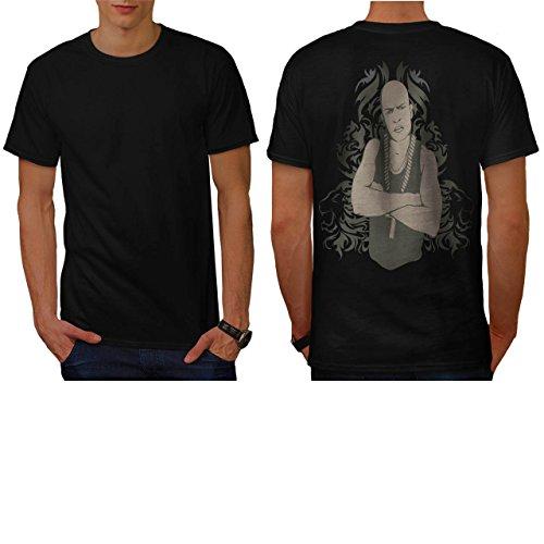 Fur Pimp Coat - Gangster Rapper Thug Bling Swag Men NEW L T-shirt Back | Wellcoda