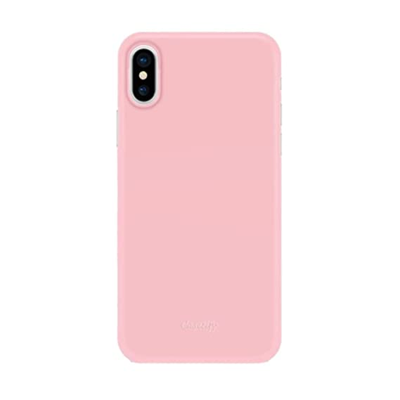 new product 4b431 6468e Casetify Ultra Slim Skin iPhone X Case with 0.45mm Thinnest Minimal Light  Cover and Anti-Scratch and Fingerprint Resistance Soft Thin Fit for Apple  ...