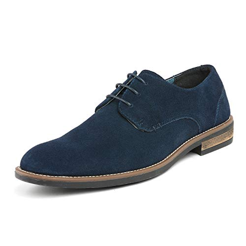 Bruno Marc Men's URBAN-08 Navy Suede Leather Lace Up Oxfords Shoes - 7 M US