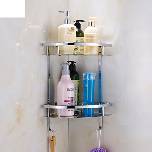 lovely Bathroom racks/Stainless steel triangular basket/Bathroom corner rack/ a two-tier storage rack-A
