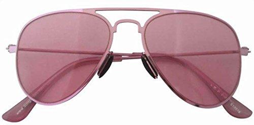 Eyekepper Stainless Steeel Frame Aviator Kids Children Sunglasses Pink