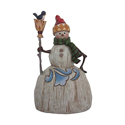 Jim Shore 4058767 Folklore Snowman with Broom Figurine