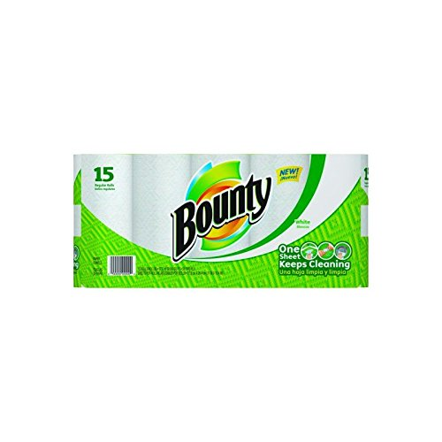 Procter & Gamble Bounty Perforated Kitchen Towels 2-Ply, White 30 rl/cs