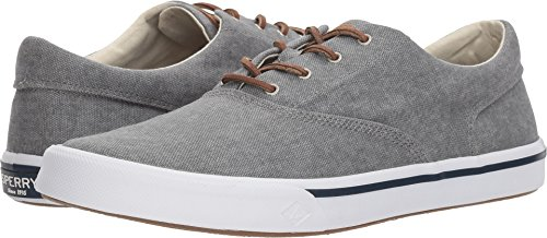 SPERRY Men's Striper II CVO Washed Sneaker, Grey, 8.5