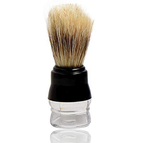 Titania Germany Shaving Brush - Long Bristles - Acrylic Handle - Easy Use & Clean Cream Applicator - For Personal & Professional Use