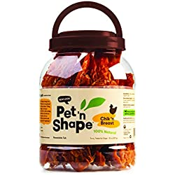 Pet 'n Shape Chik 'N Breast Jerky - All Natural Dog Treats, Chicken, 2 Lb