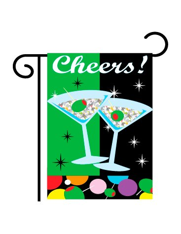 Two Group Cheers Garden Flag