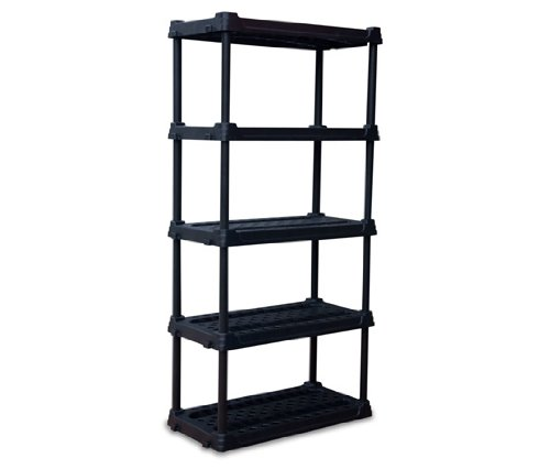 Super Box 2724-013 5-Tier Storage Shelf, 24-Inch by SuperBox