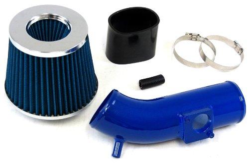 10-12 Mazda 3 Mazda3 2.5L Blue Shortram Air Intake Kit Black Hose Blue Filter 11
