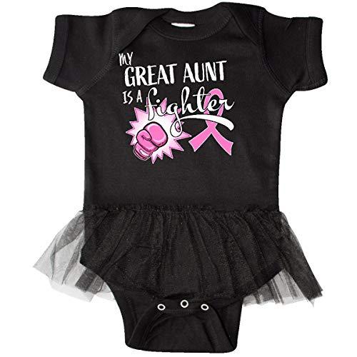 inktastic - My Great Aunt is a Fighter- Infant Tutu Bodysuit Newborn Black ()