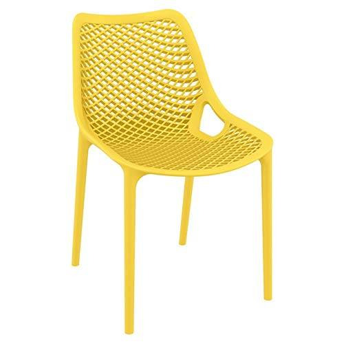 Compamia Air Outdoor Dining Chair in Yellow – Set of 2