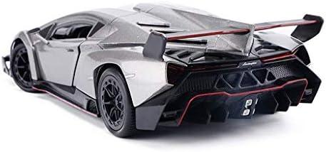 YN モデルカー シルバーモデルカーランボルギーニスポーツカー1:24シミュレーション合金モデルスタティックモデルコレクションデコレーション ミニカー