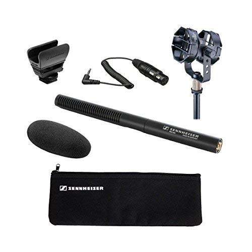 Sennheiser MKE 600 Shotgun Microphone with Audio-Technica AT8415 Shock Mount and Sennheiser KA 600 - XLR Female to 1/8'' TRS Male Connection Cable - 15'' by Sennheiser