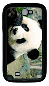 cases sale panda eating TPU Black case/cover for samsung galaxy N7100/2