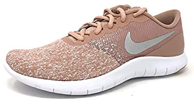 Nike Women's Flex Contact Running Shoe Wolf GreyMetallic Rose Gold 7.5 M US