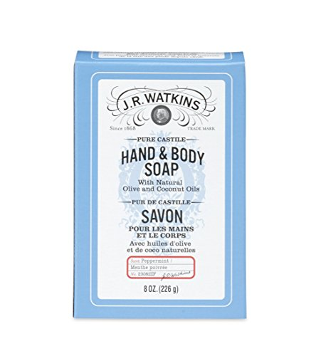 J.R. Watkins Castile Hand & Body Bar Soap, Peppermint, 8 ounce Black Friday Deals 2019