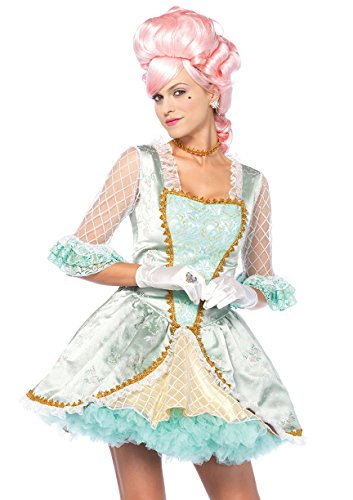 Leg Avenue Women's Rococo Marie Antoinette Versailles Beauty Costume, Green/Gold, Small ()